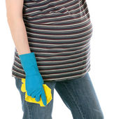 Tired pregnant woman — Stock Photo