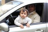 Child in the car — Stock Photo