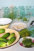 Winter cucumbers — Zdjęcie stockowe