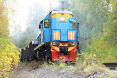 Autumn locomotive  — Stock Photo