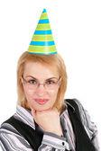 Woman in cap — Stock Photo