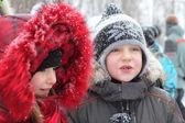 Winter children — Stock Photo