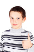 Boy with his thumb up — Stock Photo