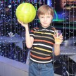 Bowling player — Stock Photo