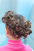 Closeup of hairstyle — Stock Photo