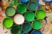 Bright paint colors — Stock Photo