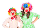 Cute little clowns — Stock Photo