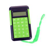 Green calculator — Stock Photo