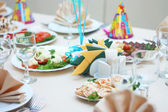 Holiday table — Stock Photo