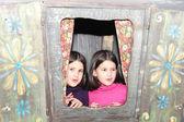 Girls playing  on the playground — Stock Photo