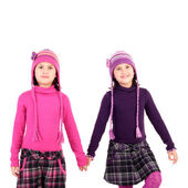 Cute little twin sisters — Stock Photo