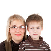 Mother with her cute little son — Stock Photo
