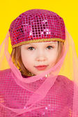 Girl in the costume of the eastern beauty — Stock Photo