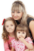 Mother with her cute little children — Stock Photo
