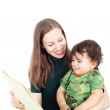 Mother teaching her little child — Stock Photo #51204851