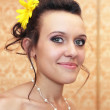 Smiling young bride — Stock Photo #51205415