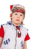 Klein kind in bandana — Foto de Stock