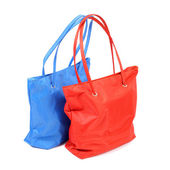 Red and blue bags — Stock Photo