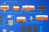 Technological scheme closeup — Φωτογραφία Αρχείου