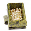 Malachite casket with the pearls — Stock Photo #51501947