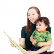 Mother teaching her little child — Stock Photo #51506517