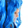Girl  in the blue wig — Stock Photo #51507829