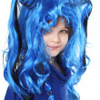 Girl  in the blue wig — Stock Photo #51507839