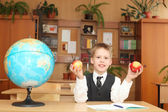 Little boy in a classroom — Foto Stock