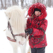 Child with the little horse — Stock Photo