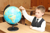 Little boy in a classroom — Stock Photo