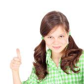 Girl showing okey sign — Stock Photo