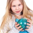 Girl with the ball — Stock Photo #5839271