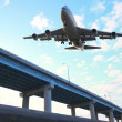 Airplane ready for landing — Stock Photo #8755896
