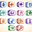 Royalty-Free Stock Vector Image: Sketchy Internet Icons