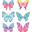Royalty-Free Stock Vector Image: Colorful Butterfly Set