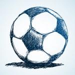 Постер, плакат: Sketch Soccer Ball