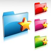 Favorite Folder — Stock Vector
