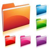 Ikona folderu — Wektor stockowy