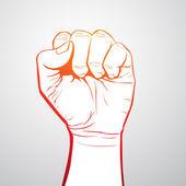 Hand Fist — Stock Vector