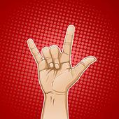 Rocking Hand — Stock Vector
