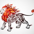 Flame Lion — Stock Vector #13774156