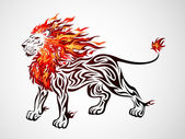 Flame Lion — Stock Vector