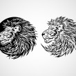 Lion Head Emblem — Stock Vector