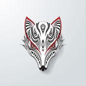 Tribal Fox Head — Stock Vector