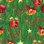 Christmass tree seanless texture, vector illustration, eps 10 — Stock Vector