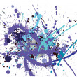 Colorful paint splats vector background — Vektorgrafik