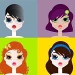 Girls portrait — Stock Vector #15175085