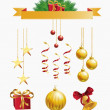 Christmas decoration set — Vettoriali Stock