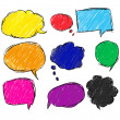 Royalty-Free Stock Imagen vectorial: Colorful bubble for speech