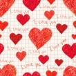 Seamless pattern of heart — Imagen vectorial
